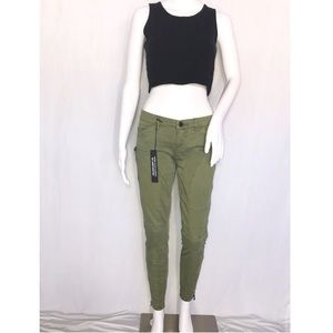 Blank NYC Army Green Cigarette Leg Skinny AnkleZip